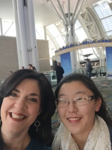 Laurie Lausi and honor choir student Hannah Kim